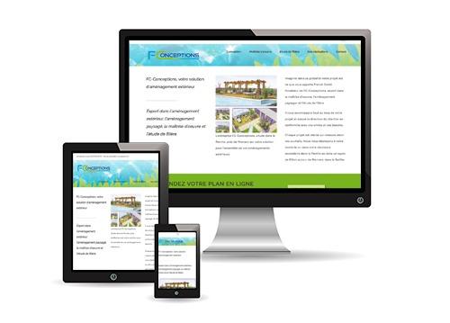 Mockup du site Internet FC Conceptions.