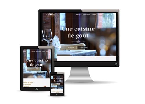 Mockup du site Internet de l'Auberge Saint Michel.