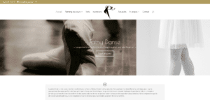 Screenshot du site Internet Fathy Danse.