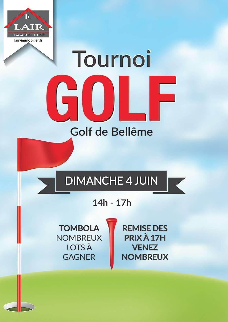 Affiche du Tournoi de Golf Lair Immobilier