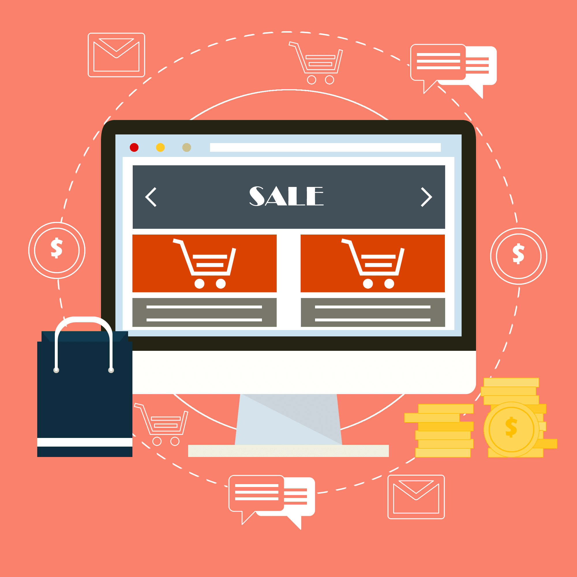 Illustration de la partie site E-commerce.
